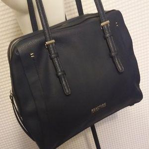 KENNETH COLE NAVY BLUE VEGAN SHOULDER BAG